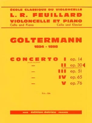 Georg Goltermann - Concerto No. 2 Op.30 in D Minor 1 Mvt - Partition - di-arezzo.co.uk
