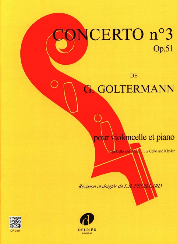 Georg Goltermann - Concerto N ° 3 Op.51 in If Minor 1st Mvt - Partition - di-arezzo.co.uk