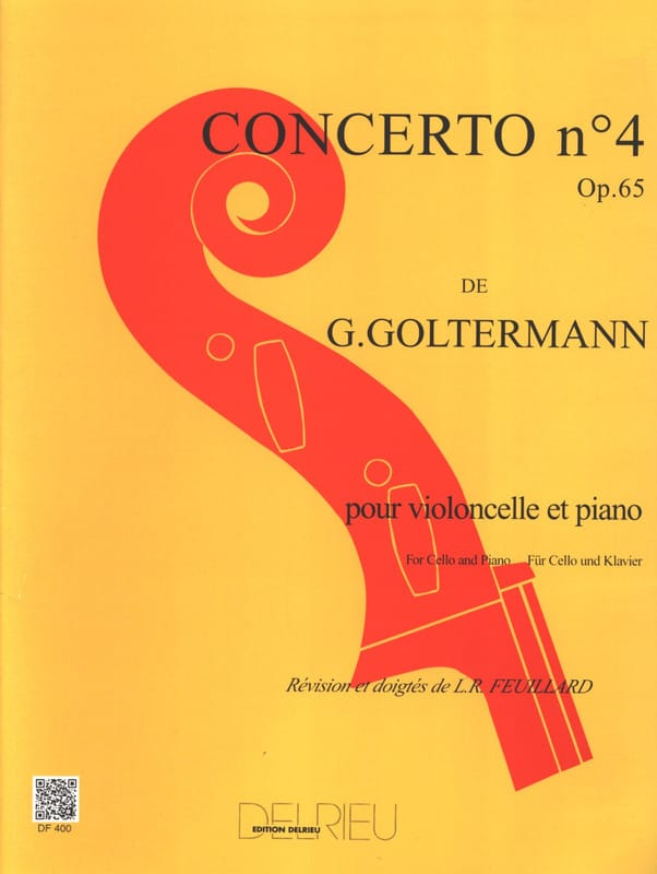 Georg Goltermann - Concerto No. 4 Op. 65 in G Major 1st Mvt - Partition - di-arezzo.co.uk