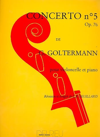 Georg Goltermann - Concerto No. 5 Op. 76 in D minor 1st Mvt - Partition - di-arezzo.co.uk