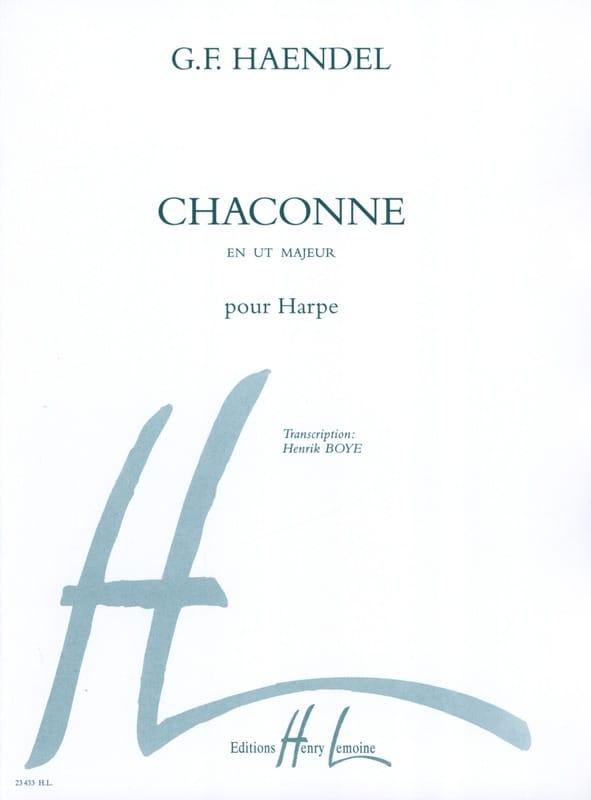 HAENDEL - Chaconne - Harp - Partition - di-arezzo.co.uk