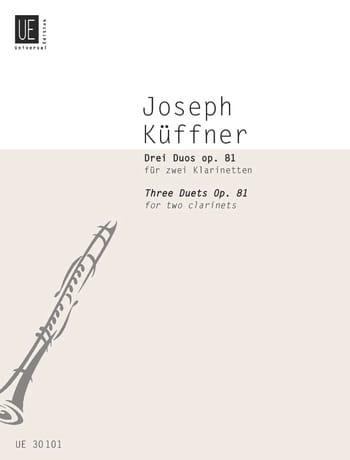 3 Duos op. 81 - 2 Klarinetten - Joseph Küffner - laflutedepan.com
