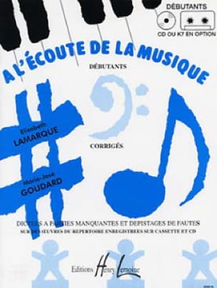 Elisabeth LAMARQUE et Marie-José GOUDARD - Listening to the mus. - Beginner - Prof - Partition - di-arezzo.co.uk