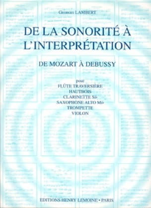 Georges Lambert - From Sound to Interpretation Volume 2 - Partition - di-arezzo.com