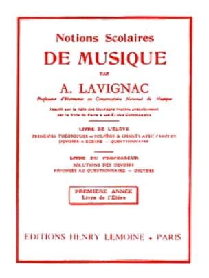 Lavignac - School Concepts - Volume 1 - Student - Partition - di-arezzo.co.uk