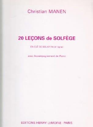 Christian Manen - 20 Leçons - 2 Clés - A/A - Partition - di-arezzo.fr