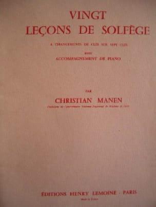 Christian Manen - 20 Leçons - 7 Clés - A/A - Partition - di-arezzo.fr