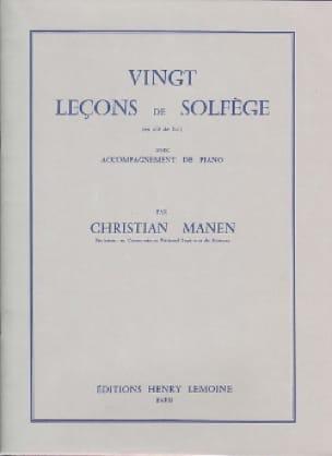 Christian Manen - 20 Leçons - Clé de Sol - A/A - Partition - di-arezzo.fr