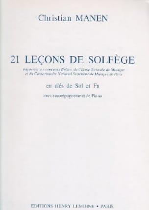 Christian Manen - 21 Leçons - 2 Clés - A/A - Partition - di-arezzo.fr