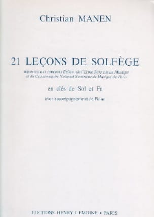 21 Leçons - 2 Clés - A/A - Christian Manen - laflutedepan.com