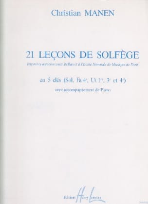 21 Leçons - 5 Clés A/A - Christian Manen - laflutedepan.com