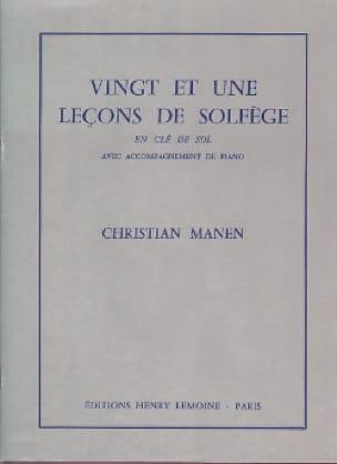 Christian Manen - 21 Leçons - Clé Sol - A/A - Partition - di-arezzo.fr