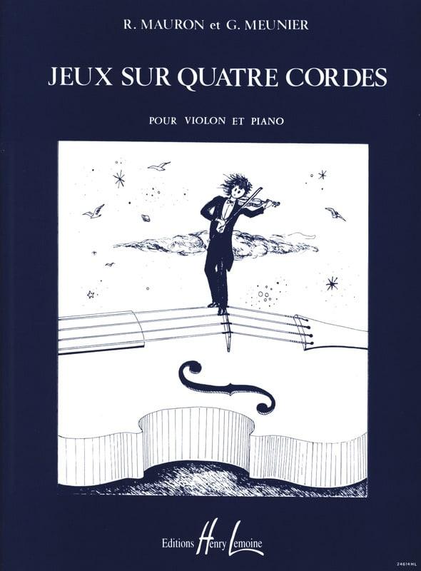 Mauron Roger / Meunier Gérard - 4-string games - Partition - di-arezzo.co.uk