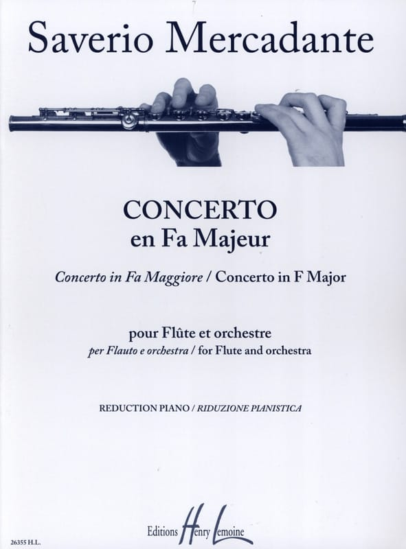 Saverio Mercadante - Concerto In F Major - Partition - di-arezzo.co.uk