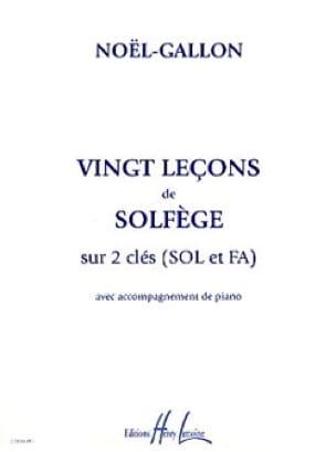 Noël Gallon - 20 Lessons of Solfeggio - 2 Keys sol and fa - Partition - di-arezzo.com