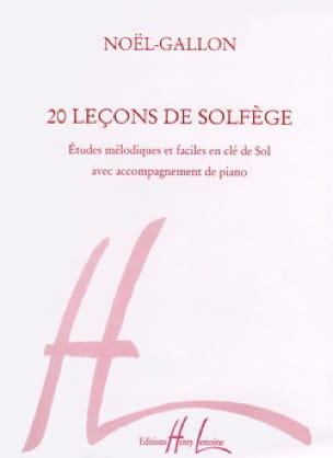 Noël Gallon - 20 Music theory lessons - Treble clef - Partition - di-arezzo.com