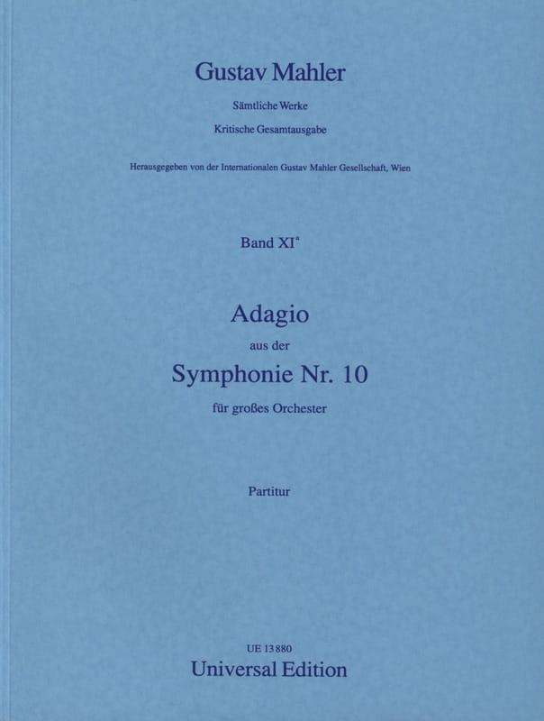Gustav Mahler - Adagio aus der Symphony Nr. 10 - Partitur - Partition - di-arezzo.co.uk