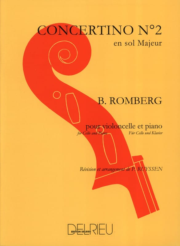 Bernhard Romberg - Concertino No. 2 in G major Op. 38 - Partition - di-arezzo.co.uk