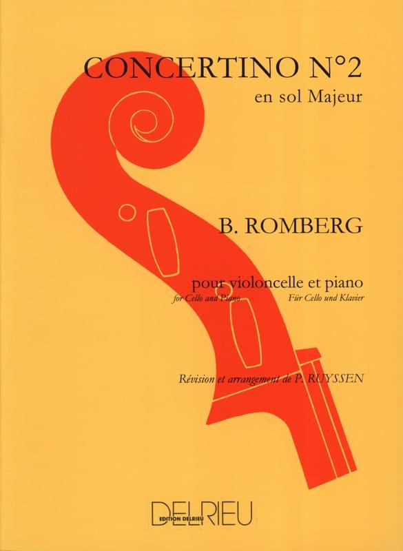 Concertino n° 2 en sol majeur Op. 38 - ROMBERG - laflutedepan.com