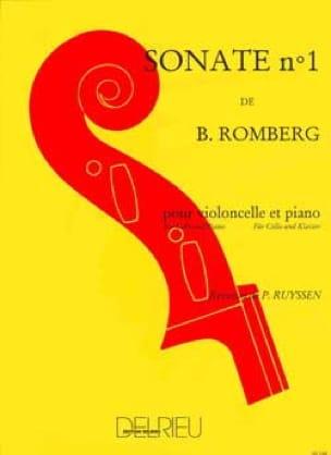 Bernhard Romberg - Sonata No. 1 in B flat major - Partition - di-arezzo.co.uk
