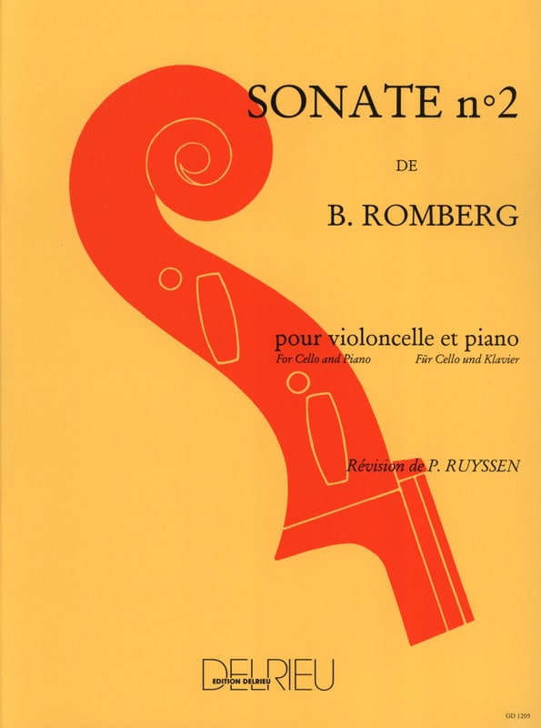 Bernhard Romberg - Sonata No. 2 in C major Op. 43 - Partition - di-arezzo.co.uk