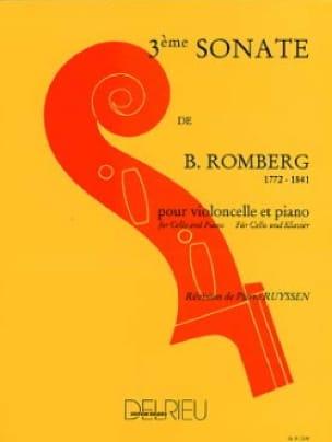 Bernhard Romberg - Sonata No. 3 in G major - Partition - di-arezzo.co.uk