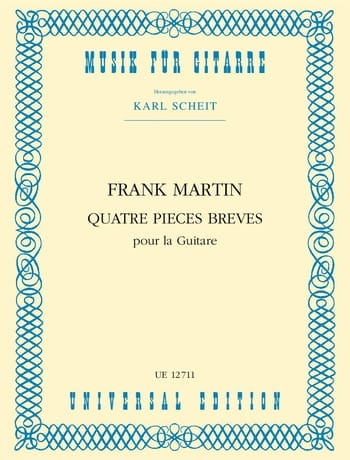 4 Pièces brèves pour la guitare - Frank Martin - laflutedepan.com