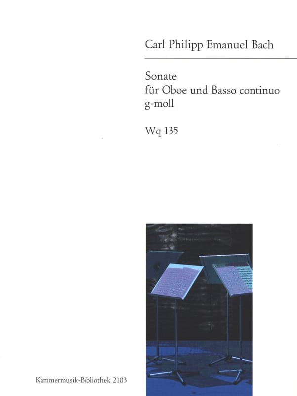 Carl Philipp Emanuel Bach - Sonata g-moll Wq 135 - Oboe and basso continuo - Partition - di-arezzo.com