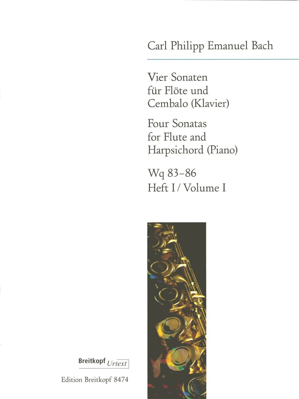 Carl Philipp Emanuel Bach - 4 Sonaten - Heft 1: Wq 83-84 - Flute Cembalo - Partition - di-arezzo.co.uk