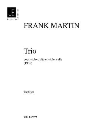 Trio 1936 - Partition - Frank Martin - Partition - laflutedepan.com