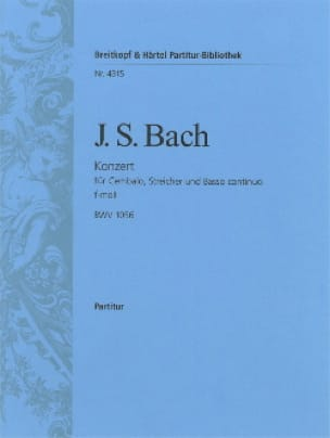 BACH - Cembalo-Konzert f-moll BWV 1056 - Driver - Partition - di-arezzo.co.uk