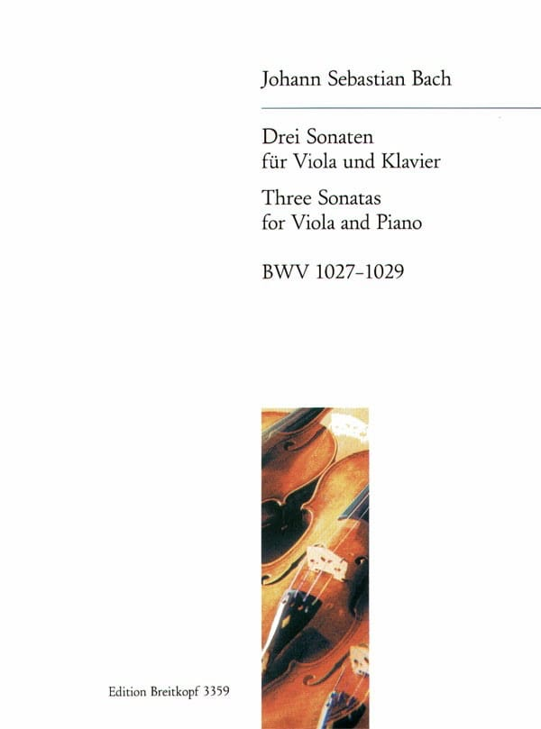 BACH - 3 Sonaten - BWV 1027-1029 - Partition - di-arezzo.co.uk
