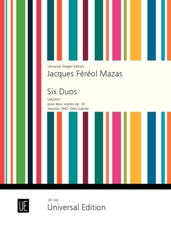 MAZAS - 6 Duos op. 39 Volume 1 - Partition - di-arezzo.co.uk