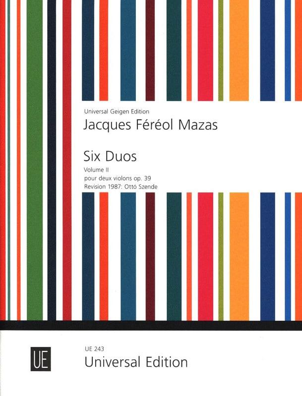 6 Duos op. 39 - Volume 2 - MAZAS - Partition - laflutedepan.com