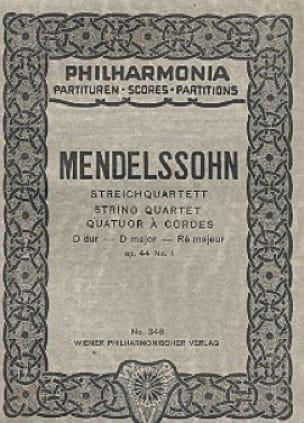 Streichquartett D-Dur op. 44 n° 1 - Partitur - laflutedepan.com