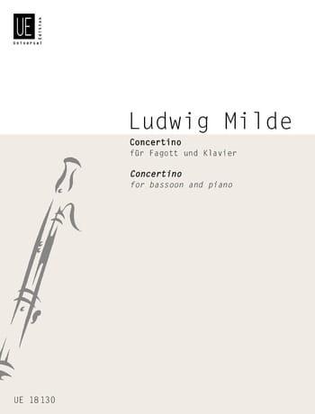 Ludwig Milde - Concertino - Fagott Klavier - Partition - di-arezzo.es