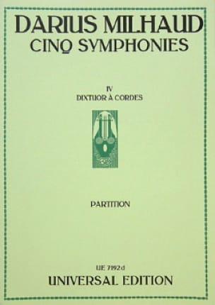 Darius Milhaud - 5 Symphonies: No. 4 String Dixtuor - Conductor - Partition - di-arezzo.com