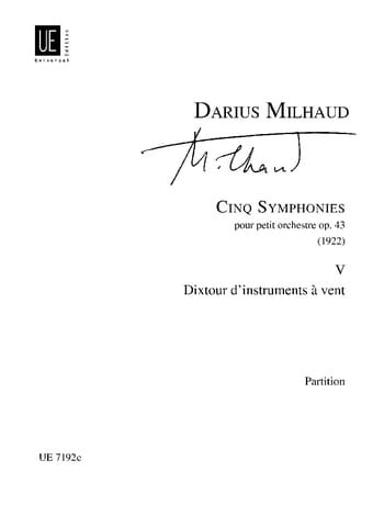 5 Symphonies : n° 5 Dixtuor d'instr. à vent - Conducteur - laflutedepan.com