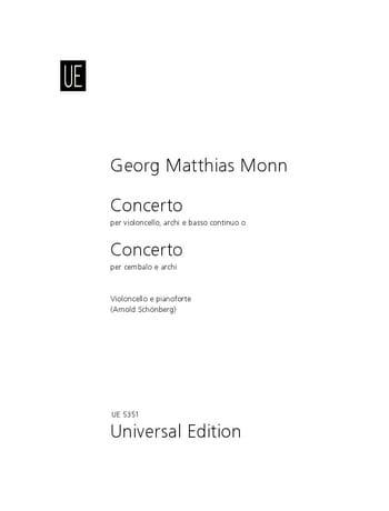 Concerto - Violoncelle - Matthias Georg Monn - laflutedepan.com
