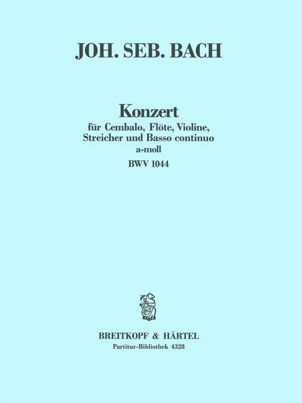 Konzert a-Moll BWV 1044 - Conducteur - BACH - laflutedepan.com