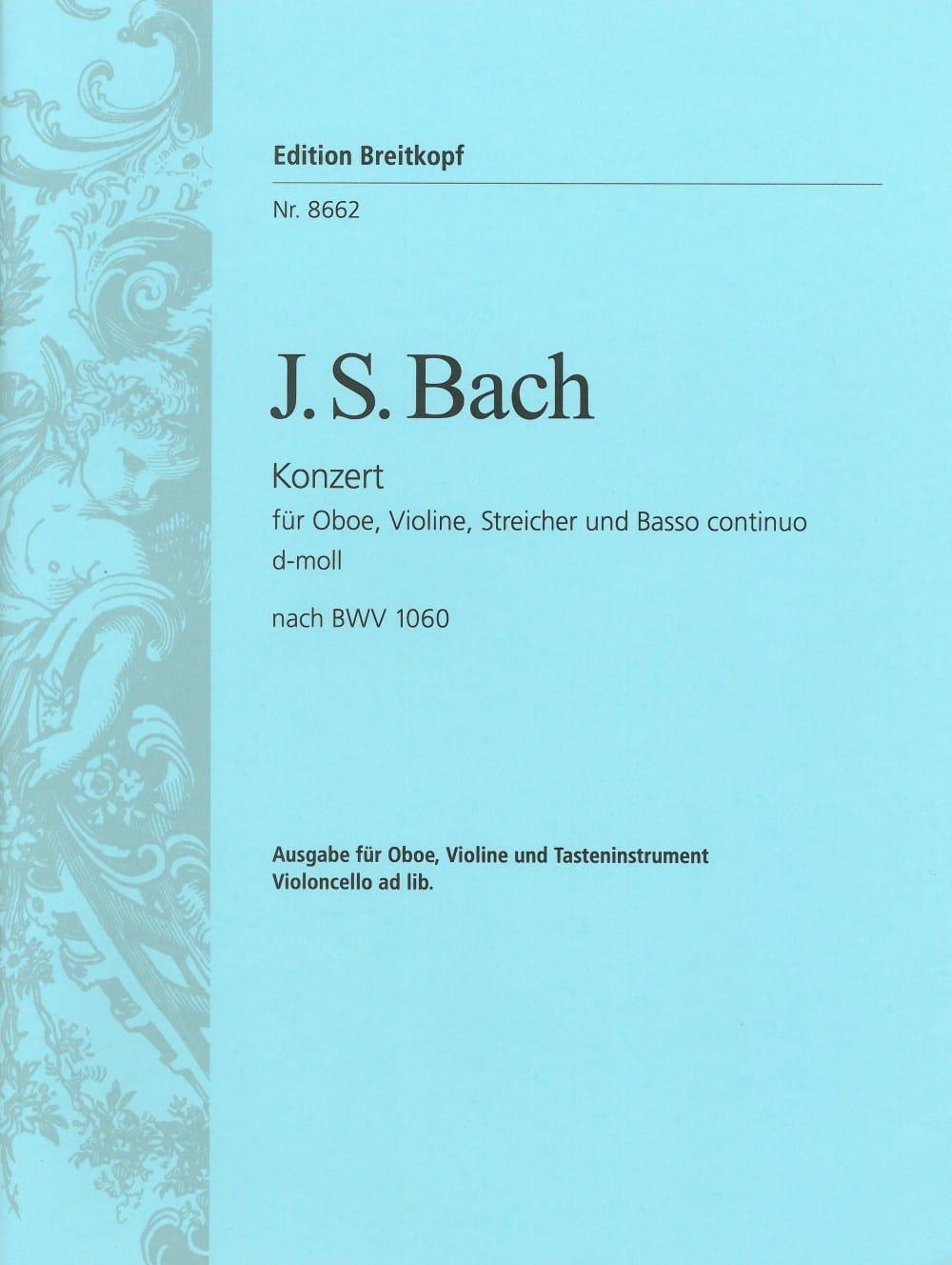 BACH - Double Concerto BWV 1060 - Oboe, Violin, Piano - Partition - di-arezzo.com