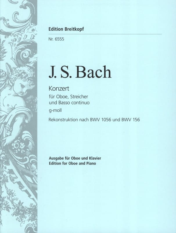 BACH - Oboenkonzert g-moll nach BWV 1056 u. 156 - Oboe Klavier - Partition - di-arezzo.co.uk