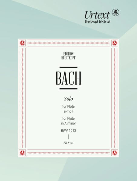 BACH - Solo Partita a-moll, BWV 1013 - Solo flute - Partition - di-arezzo.co.uk