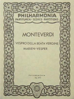 Vespro della Beata Vergine - Partitur - MONTEVERDI - laflutedepan.com