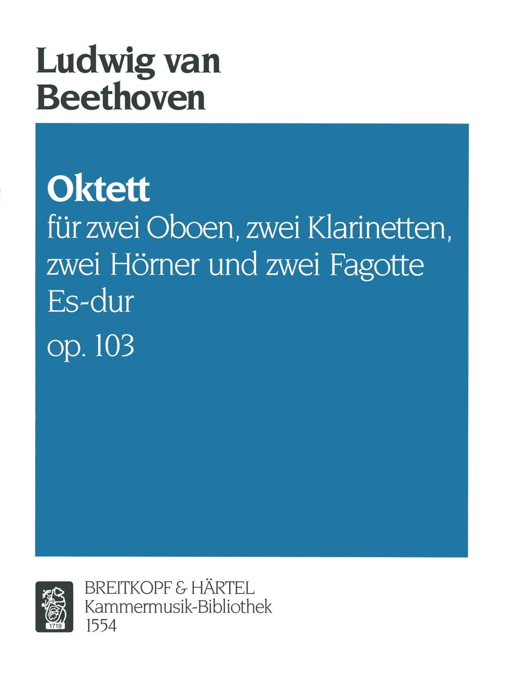 BEETHOVEN - Octet Es-Dur Op. 103 - Partition - di-arezzo.co.uk