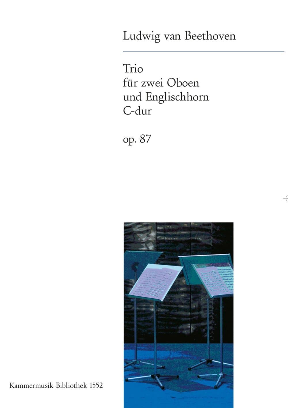 BEETHOVEN - Trio C-Dur op. 87 - 2 Oboen Englischhorn - Partition - di-arezzo.co.uk