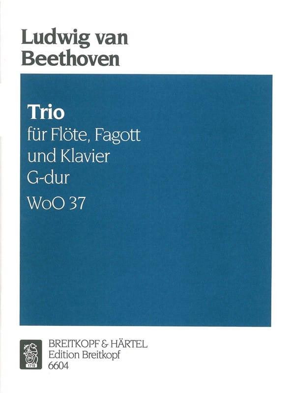 BEETHOVEN - Trio G-Dur WoO 37 - Klavier Fagott Floe - Partition - di-arezzo.com