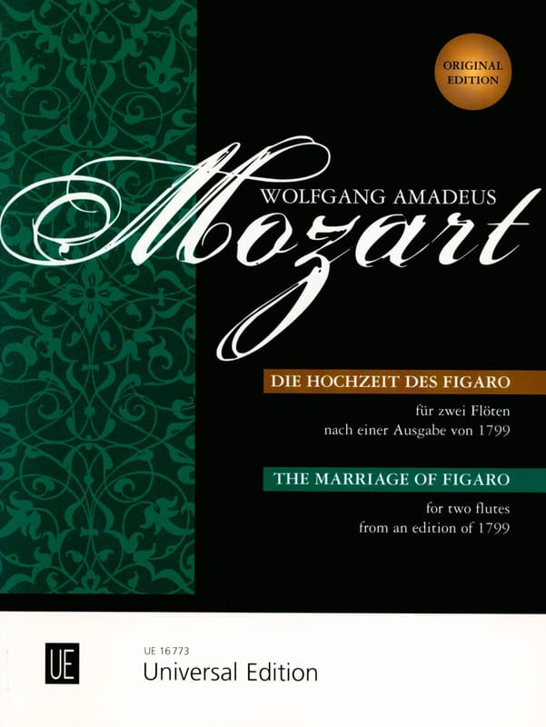 MOZART - The Hochzeit des Figaro - 2 Flöten o. Violinen - Partition - di-arezzo.co.uk