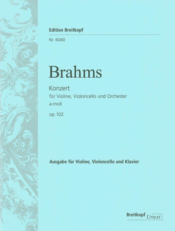 BRAHMS - Doppelkonzert a-moll op. 102 - Vl Vc Kl - Partition - di-arezzo.co.uk