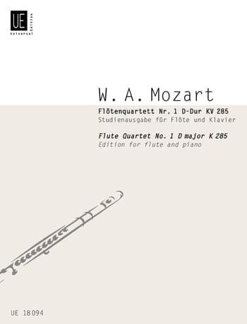 Flötenquartett Nr. 1 D-Dur KV 285 - Flöten Klavier - laflutedepan.com